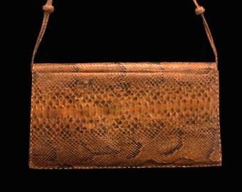 Vintage Snake Skin Purse Snake Skin Handbag Snake Skin Clutch Purse Snake Skin Shoulder Bag