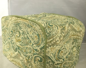 Green Paisley 4 Slice Toaster Cover