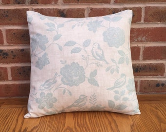 """Duck Egg Birds with Flowers Decorative Home Decor Pillow Cushion Cover 16"""" / 40cm"""