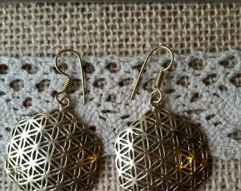 Pair of earrings gypsy flower of life