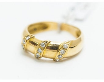 Bague Mineralife Jonc en or jaune et diamant