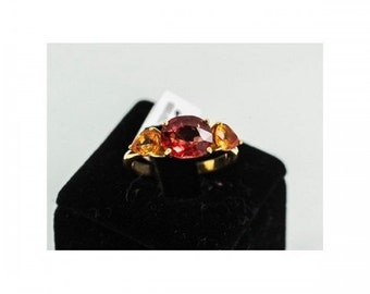 Ring Mineralife in yellow gold with fine Topaz