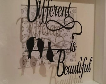 Different is Beautiful Papercutting Template...Commercial use