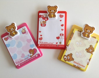 Cute Rilakkuma Notepads With Clipboard