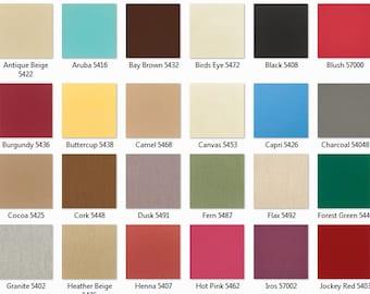 SUNBRELLA: Solid Canvas 8 oz Furniture Weight Indoor/Outdoor Fabric
