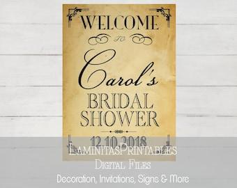 Bridal shower welcome sign, Bridal shower sign, Baby shower welcome, Wedding shower signs, Wedding signs, Wedding Welcome sign, Vintage