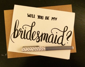 Will You Be My Bridesmaid? Card with Customized Envelope
