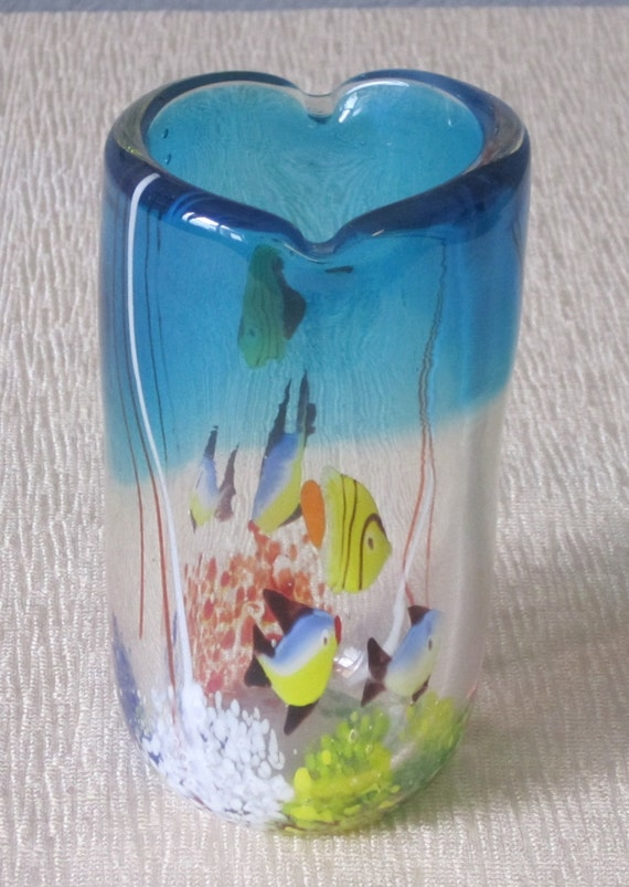 hand blown glass aquarium vase. Black Bedroom Furniture Sets. Home Design Ideas