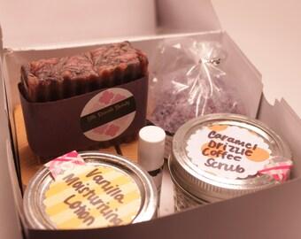 Handmade Beauty Box Set - Handmade, natural, organic beauty, create your own beauty box, perfect for Christmas, birthday or anniversary gift