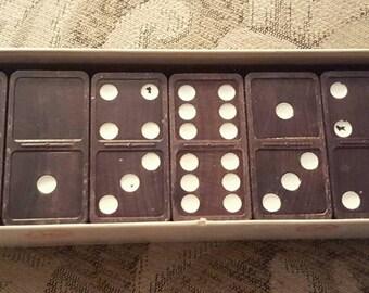 Halsam Magna Wooden Double Six Dominoe Set