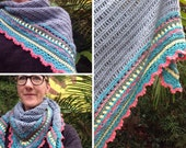 Custom order for Amanda Cooney ONLY. Crochet Sunday shawl in pure wool