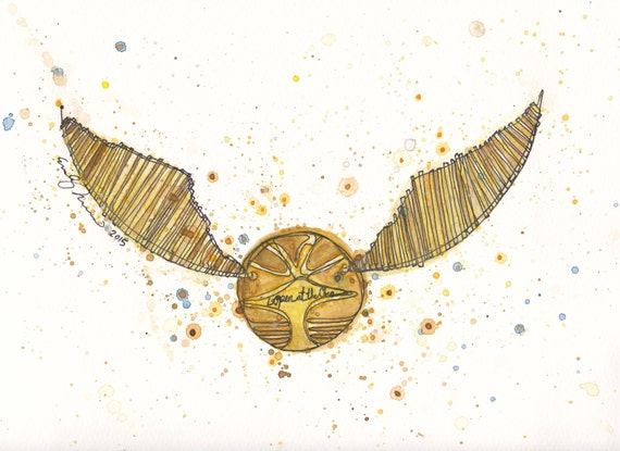 Invaluable image with golden snitch printable