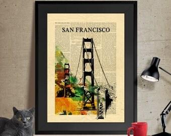 San Francisco Art, Wall Art, Art Print, Home Decor, San Francisco Poster, San Francisco Wall Art, San Francisco Print, Wall Art Prints (76)