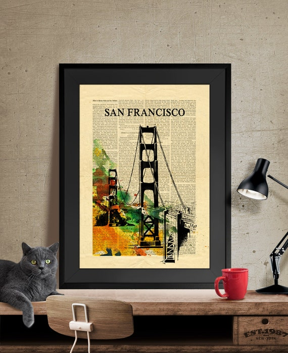 San francisco art wall art art print home decor san - Home decor san francisco image ...