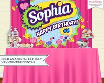 Printable Shopping Party Backdrop | Party Banner | Poster | Signage | Personalised | Printable Backdrop | Birthday Backdrop