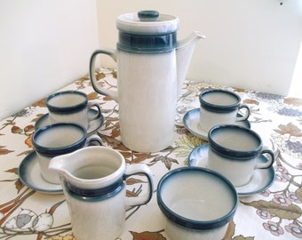 Wedgwood Blue Pacific Coffee Set
