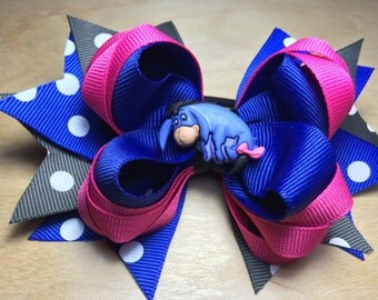 Eeyore Stacked Hair Bow