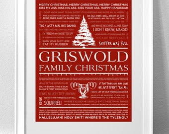 CHRISTMAS VACATION Typography Print (WARNING: Explicit Language)