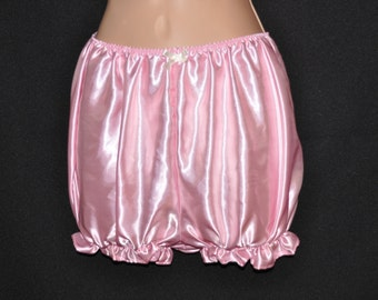 Rich baby pink satin bloomers, Sissy Lingerie