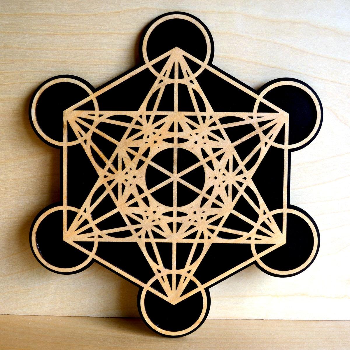 Metatron 39 s cube wall art sacred geometry laser cut art - Cube wall decor ...