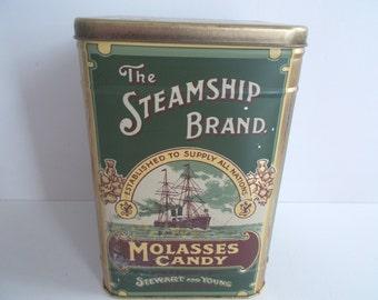 Vintage Molasses Candy Tin