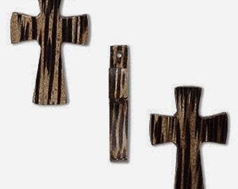 Wood Cross, Brown Cross, 27x16mm, 2 each, D757
