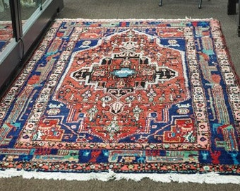 Gorgeous & Colourful Vintage Turkish Hereke Silk Carpet 6'10x4'11