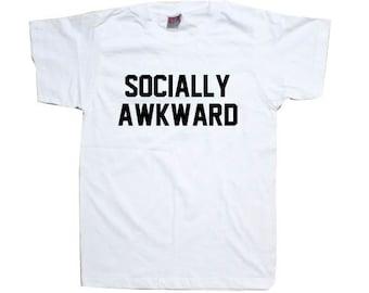 Socially Awkward Geeky T-Shirt TSHIRT SHIRT  T1067