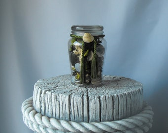 Potpourri Glass Jar - Coastal Decor - Beach Decor (BC-23)