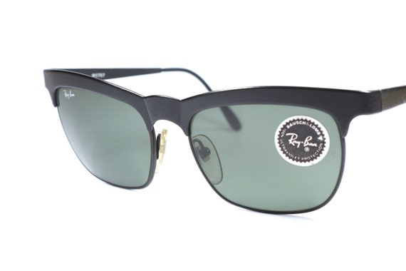 Ray Ban Vintage Glasses Frames : Vintage Ray Ban B&L W0757 square sunglasses with black frame