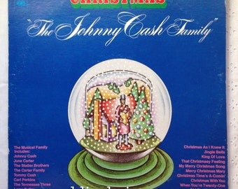 "The Johnny Cash Family ""Christmas"" LP 1972 June Carter, Tommy Cash, Carl Perkins, etc."