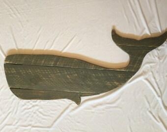 Custom large whale cutout, whale, nautical, home decor