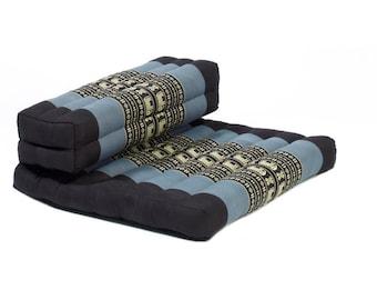 Thai Organic Kapok Filled Dhyana Meditation Cushion(Blue/Black)