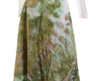 IceTie dye wrap skirt, Medium - Wrap Ice Tie Dye skirt, Green Tie dye skirt