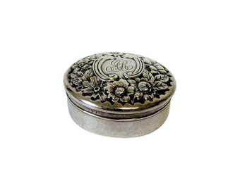 Antique Gorham Sterling Silver Repousse Box