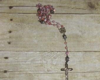 Pink Mountain Jade Rosary