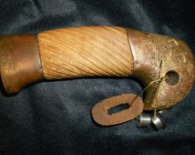 Hilt, griff, russian  cossack cavalry sword SHASHKA, Bronze the original! Is not cleared! From ground! A tree new (pear).