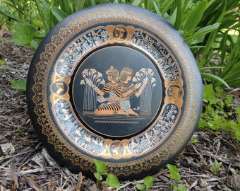 Etched Egyptian Design Decorative Plate