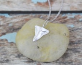 Dainty Silver Shark Tooth Necklace, Tiny Silver Shark Tooth Necklace, Boho Necklace ,Everyday Necklace