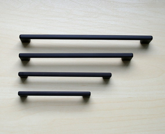 Modern black cabinet pull black cabinet hardware contemporary drawer handle drawer pull - Contemporary cabinet pulls ...