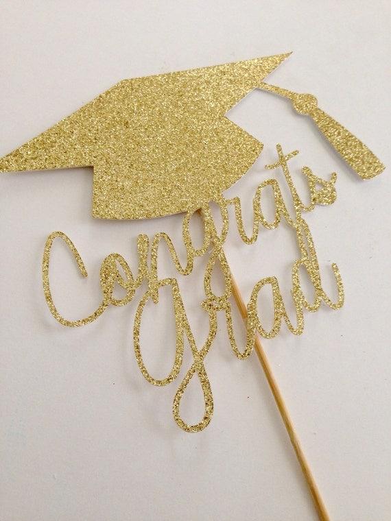 Graduation Cake Topper ~ Congrats Grad ~ Graduation Cap ...