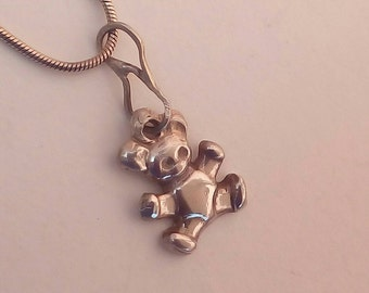 Teddy Bear Silver Pendant by MidasTouch Jewels (Made to order)