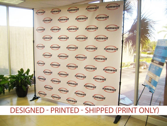 step and repeat backdrop banner 8x8 39 print only wedding. Black Bedroom Furniture Sets. Home Design Ideas