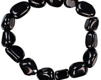 Black Obsidian Bracelet- Protection Amulet Bracelets/ Halloween Jewelry
