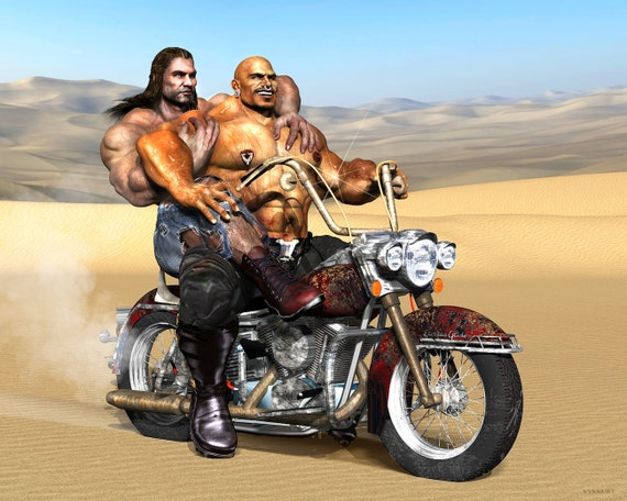 nude couples on motorcycles
