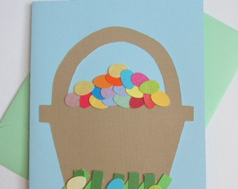 Easter Egg Basket Card (No Message Inside)