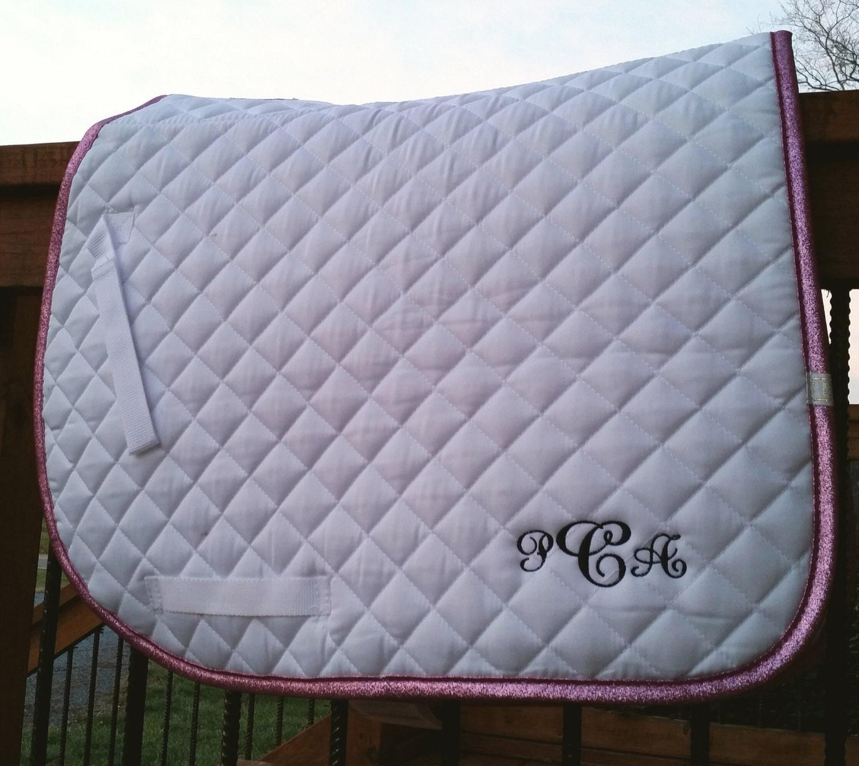 lettia pink sparkle trim all purpose  dressage saddle pad