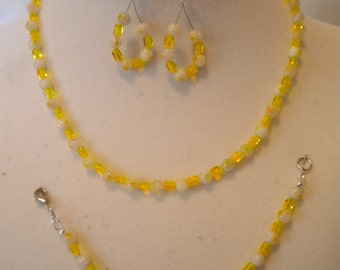 Yellow Millefiori Necklace set