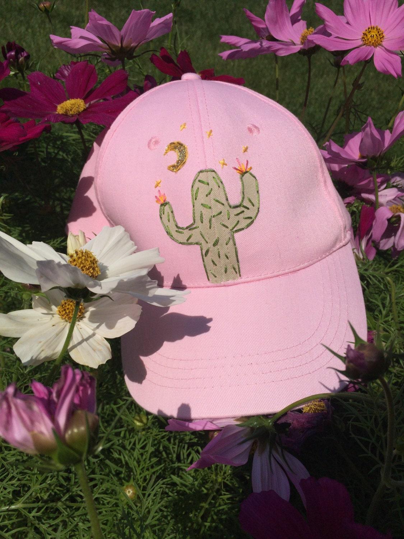 Cactus embroidered cap
