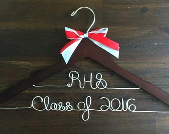 Personalized graduation hanger, name hanger, graduation gift, unique gift, bridal hanger